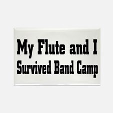 Cute Marching band flute Rectangle Magnet