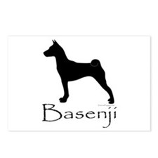 Basenji Silhouette Postcards (Package of 8)