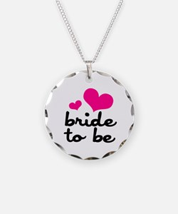 Bride To Be Necklace Circle Charm