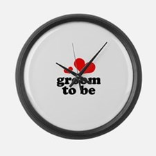 Groom to Be Large Wall Clock