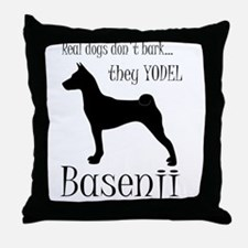 Real Dogs Don't Bark - Silhou Throw Pillow