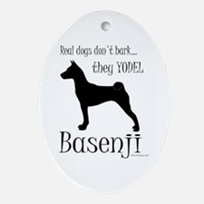 Real Dogs Don't Bark - Silhou Ornament (Oval)