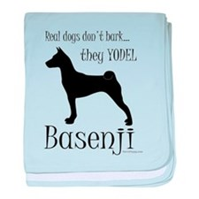 Real Dogs Don't Bark - Silhou baby blanket