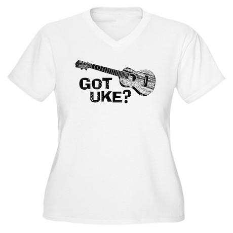Got Uke? Women's Plus Size V-Neck T-Shirt
