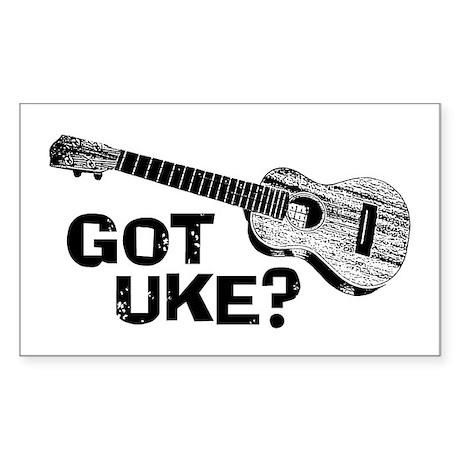 Got Uke? Sticker (Rectangle)