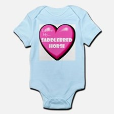 I Love My Saddlebred Horse Infant Bodysuit