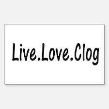 Clog Decal