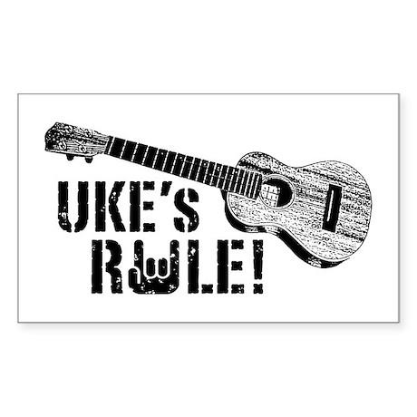 Uke's Rule Sticker (Rectangle)