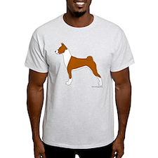 Red and White Basenji T-Shirt