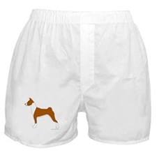 Red and White Basenji Boxer Shorts