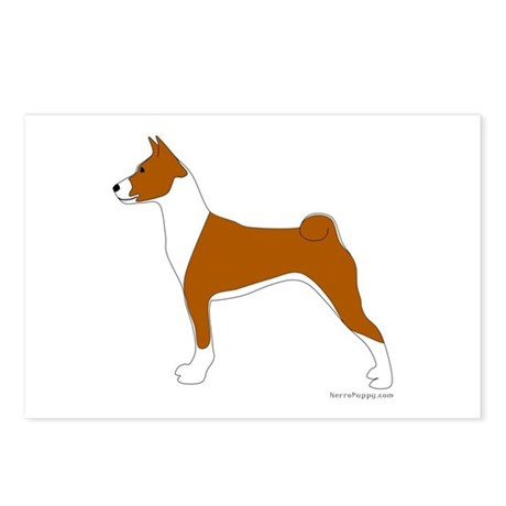 Red and White Basenji Postcards (Package of 8)