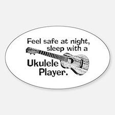 Funny Ukulele Sticker (Oval)