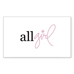 All Girl Rectangle Decal
