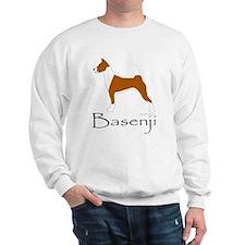 Red and White Basenji Sweatshirt
