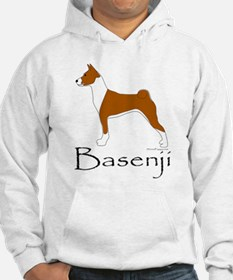 Red and White Basenji Hoodie
