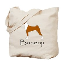 Red and White Basenji Tote Bag