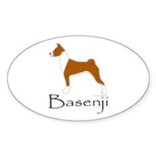 Red and White Basenji Decal