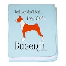 Real Dogs Don't Bark - Red baby blanket
