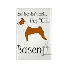 Real Dogs Don't Bark - Red Rectangle Magnet