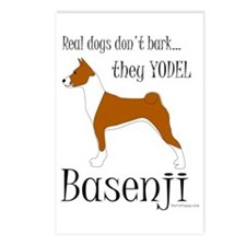 Real Dogs Don't Bark - Red Postcards (Package of 8