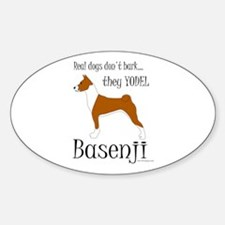 Real Dogs Don't Bark - Red Sticker (Oval)