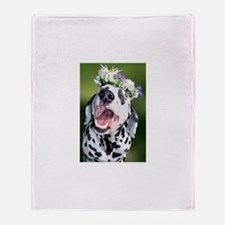 Smiling Dalmatian Dog Throw Blanket