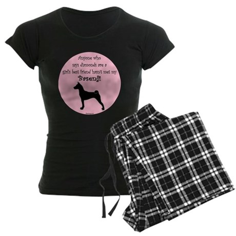 Girls Best Friend -Silhouette Women's Dark Pajamas