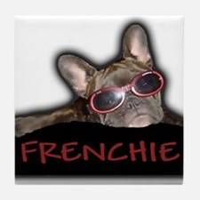 Frenchie Logo Tile Coaster