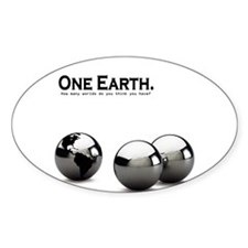 One Earth. Oval Decal