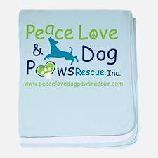 Cute Peace love adoption baby blanket
