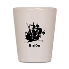 Pirate Ship Bride Shot Glass