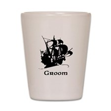 Groom Pirate Ship Shot Glass