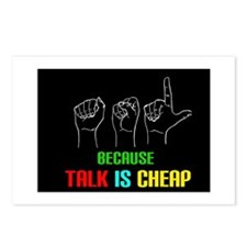 Talk is Cheap Postcards (Package of 8)