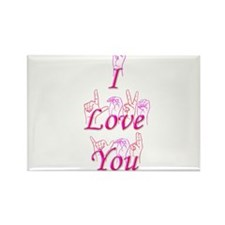 I Love You fingerspelled Rectangle Magnet