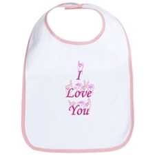 I Love You fingerspelled Bib