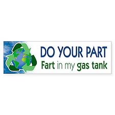 Recycle Gas Bumper Bumper Sticker