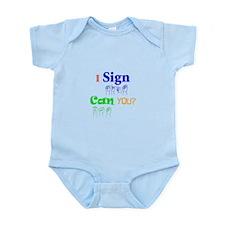 I sign can you? in ASL Infant Bodysuit