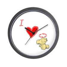 I Love Coffee in ASL Wall Clock