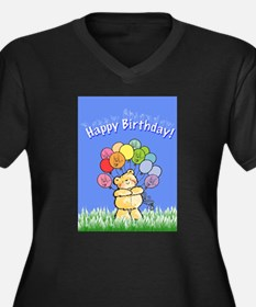 Happy Birthday Women's Plus Size V-Neck Dark T-Shi