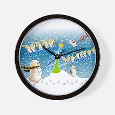 Holiday, happy Wall Clock