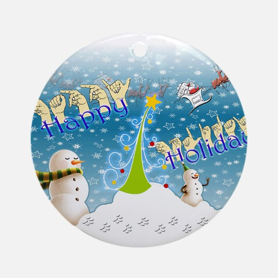 Holiday, happy Ornament (Round)