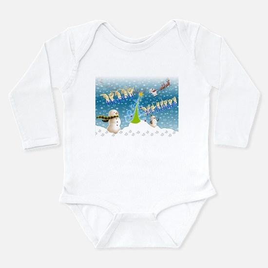 Holiday, happy Long Sleeve Infant Bodysuit