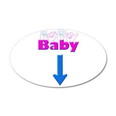 Baby 1 38.5 x 24.5 Oval Wall Peel