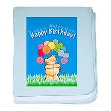 Happy Birthday Card baby blanket