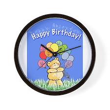 Happy Birthday Card Wall Clock