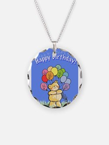 Happy Birthday Card Necklace