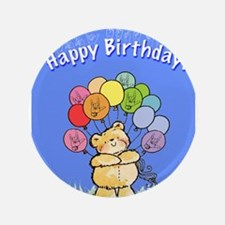 "Happy Birthday Card 3.5"" Button (100 pack)"