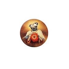 Pug heart Mini Button