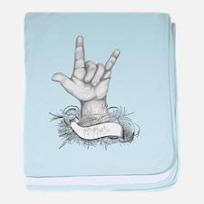 ILY ASL baby blanket
