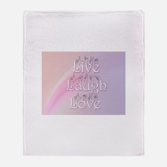 Live, Laugh, and Love Throw Blanket